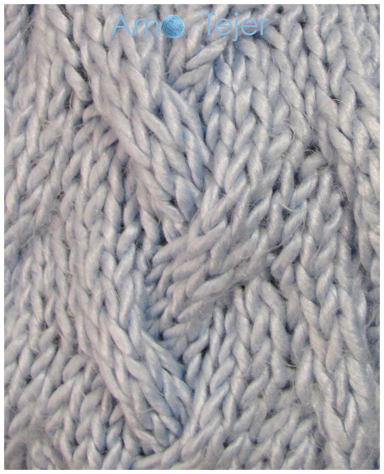 Puntos dos agujas knitting stitches amo tejer - Tipos puntos dos agujas ...