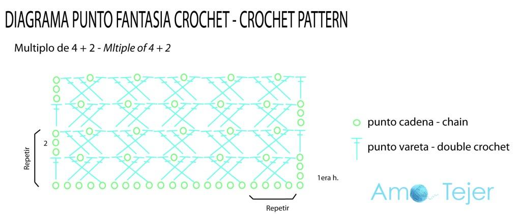 Famoso Crochet Patrón Bufanda Cadena Motivo - Ideas de Patrones de ...