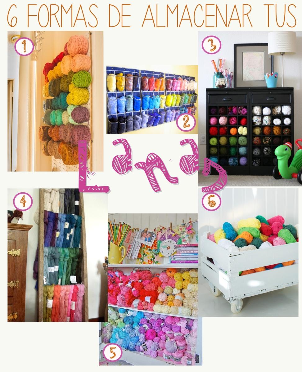 6 formas de organizar tus lanas con estilo amo tejer - Como almacenar perchas ...