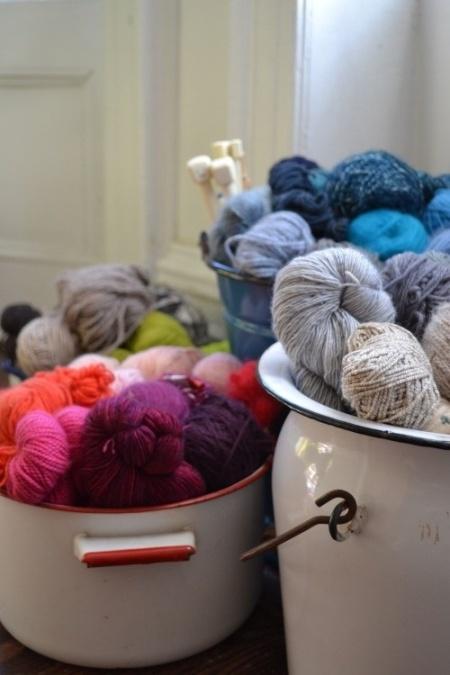 lanas en tachos
