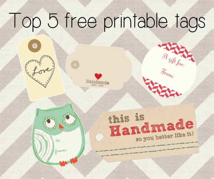 Amo Tejer - free printable tags