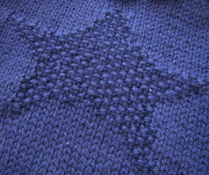 Amo Tejer - Moss Stitch Star